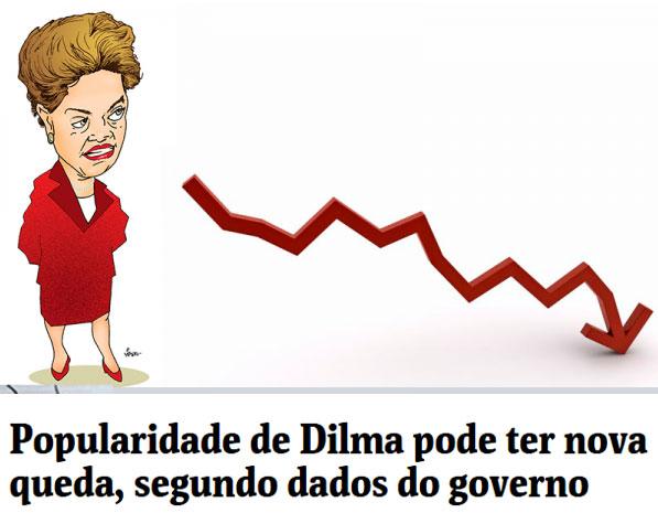 Manchete da Folha de S. Paulo