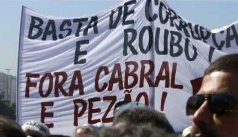 Protesto do ano passado no Rio