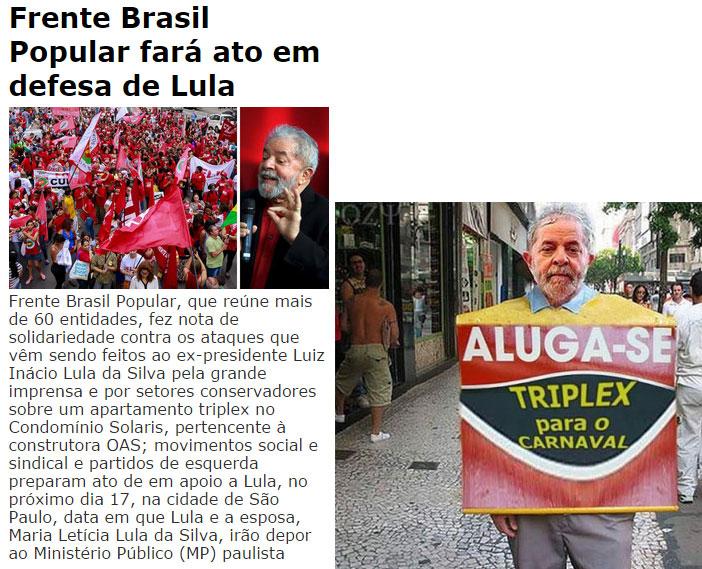 Reproduções do Brasil 247 e do Facebook