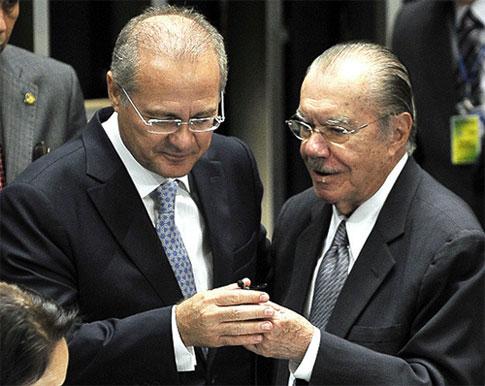 Renan Calheiros e José Sarney