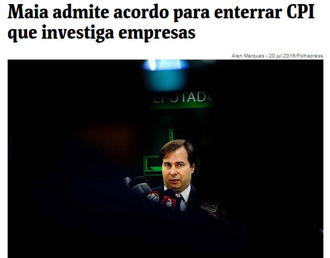 Reprodução da Folha de S.Paulo