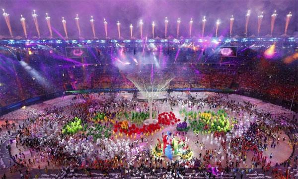 Festa de encerramento da Olimpíada