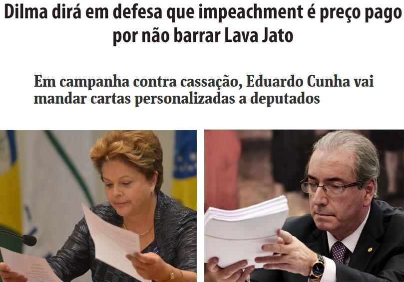 Manchetes de O Dia e Folha de S. Paulo