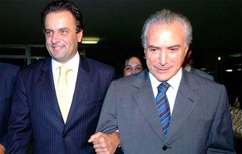 Aécio Neves e Michel Temer