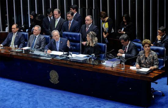 Depoimento de Dilma no Senado (Imagem da Agência Senado)