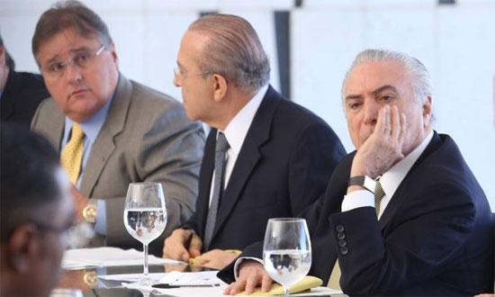 Geddel Vieira Lima, Eliseu Padilha e Michel Temer