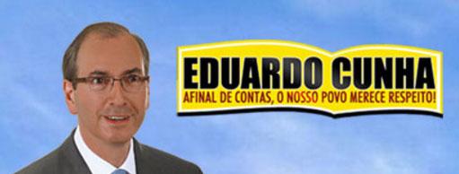 Banner da campanha de Eduardo Cunha a deputado federal