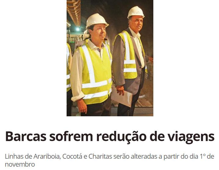 Secretário de Transportes, Rodrigo Vieira e governador Pezão