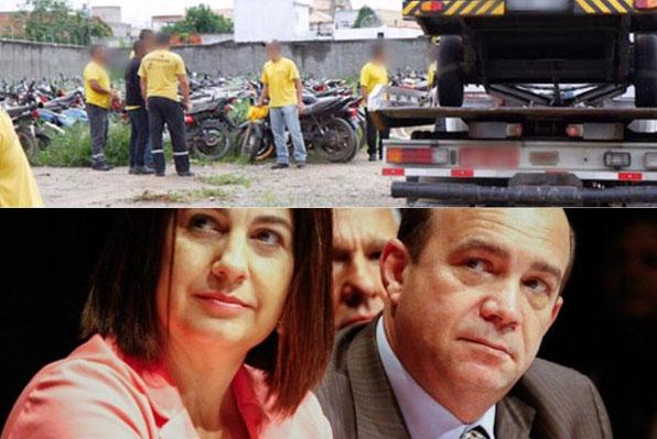 Pátio Norte: abaixo Rosinha e Dr. Chicão