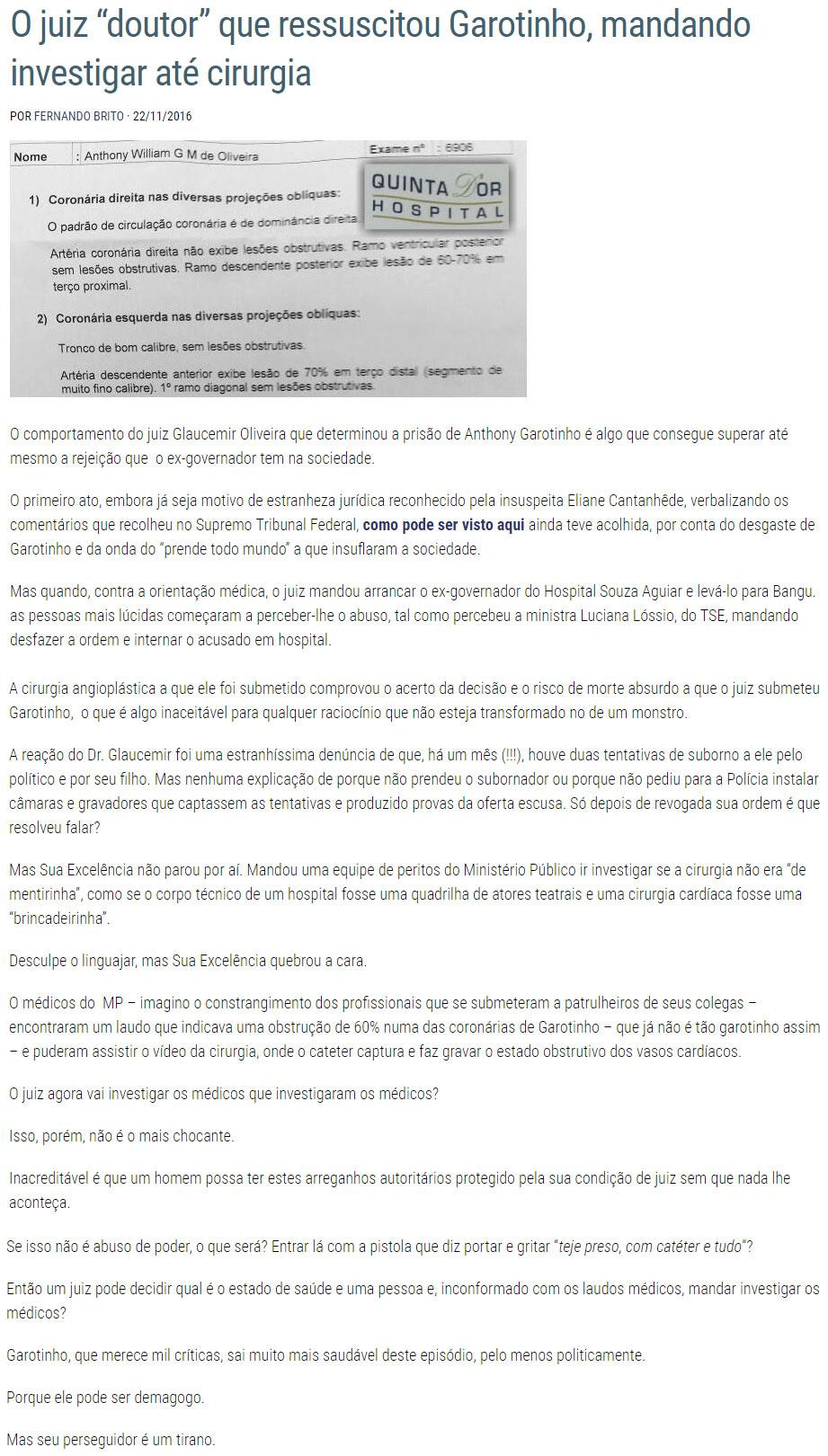 Reprodução do blog Tijolaço