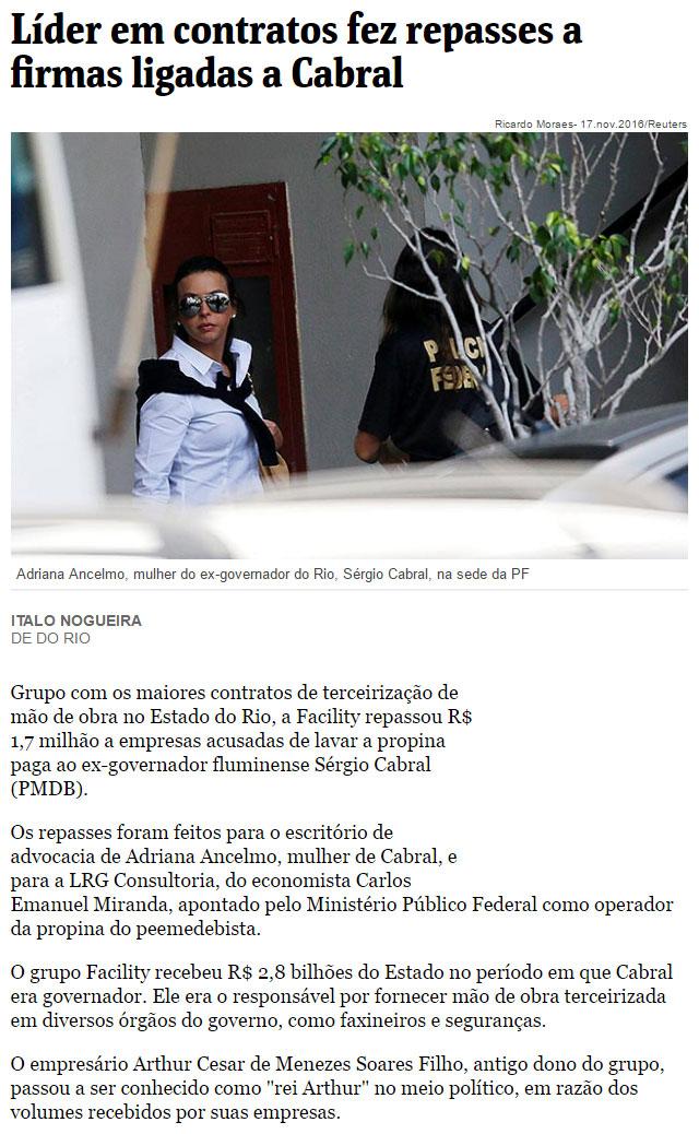 Reprodução da Folha de S. Paulo