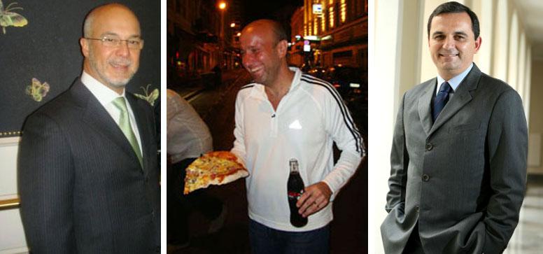 Rei Arthur (Facility), Sérgio Côrtes comendo pizza em Paris, e Regis Fichtner