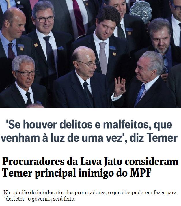 Reproduções do Globo e da Folha de S. Paulo