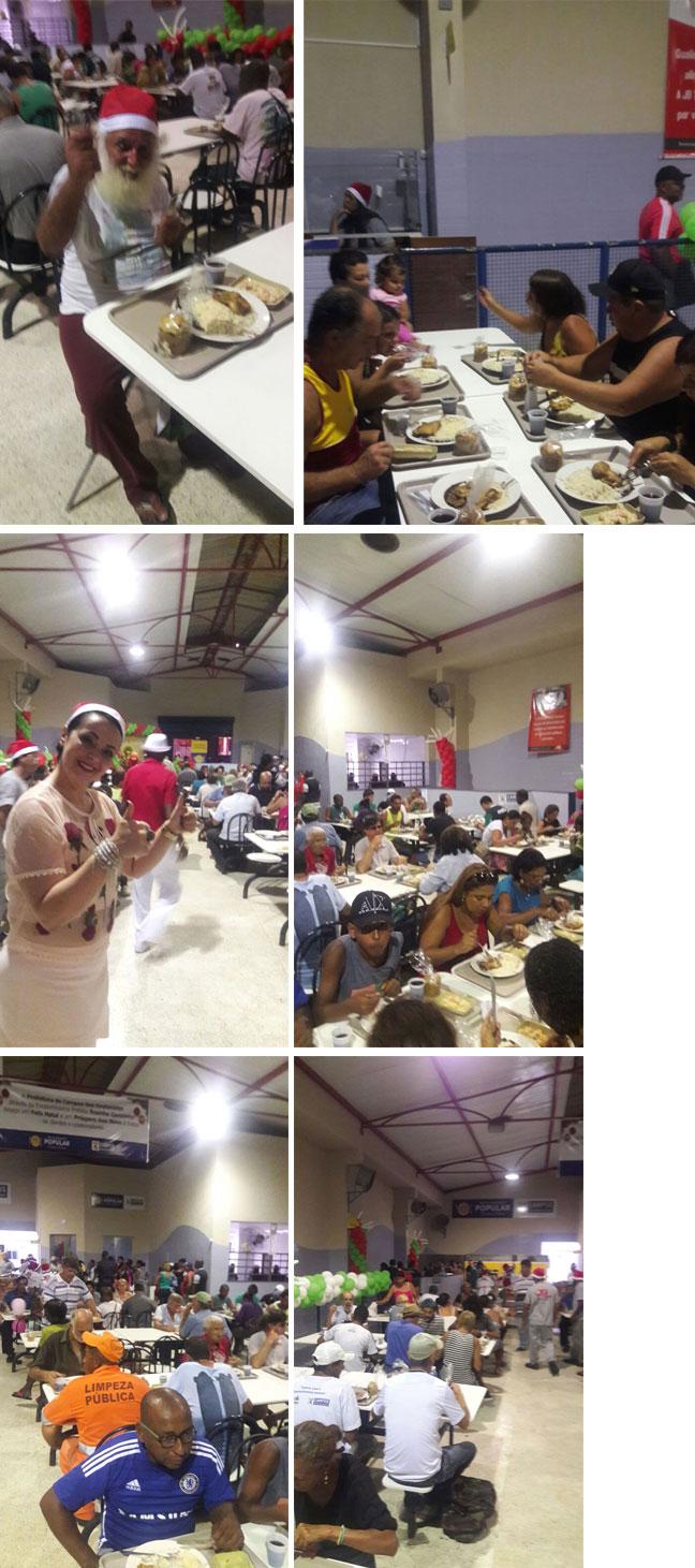 Ceia de Natal do Restaurante Popular de Campos