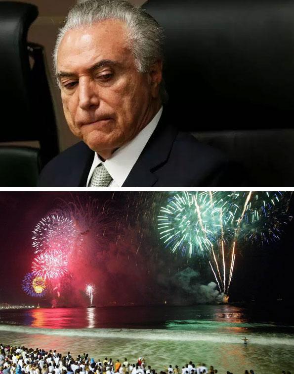 Michel Temer e abaixo o Réveillon de Copacabana (2016)
