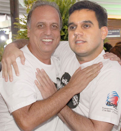 Pezão e Rafael Diniz (montagem da internet)