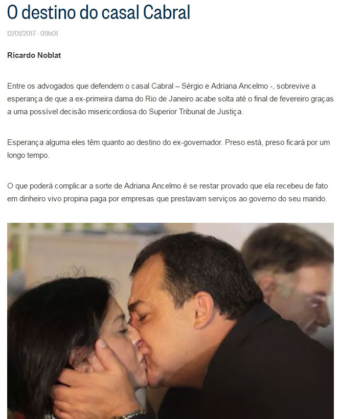Reprodução do blog de Ricardo Noblat