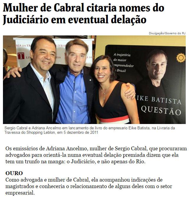 Reprodução da coluna de Môniva Bergamo, da Folha de S. Paulo