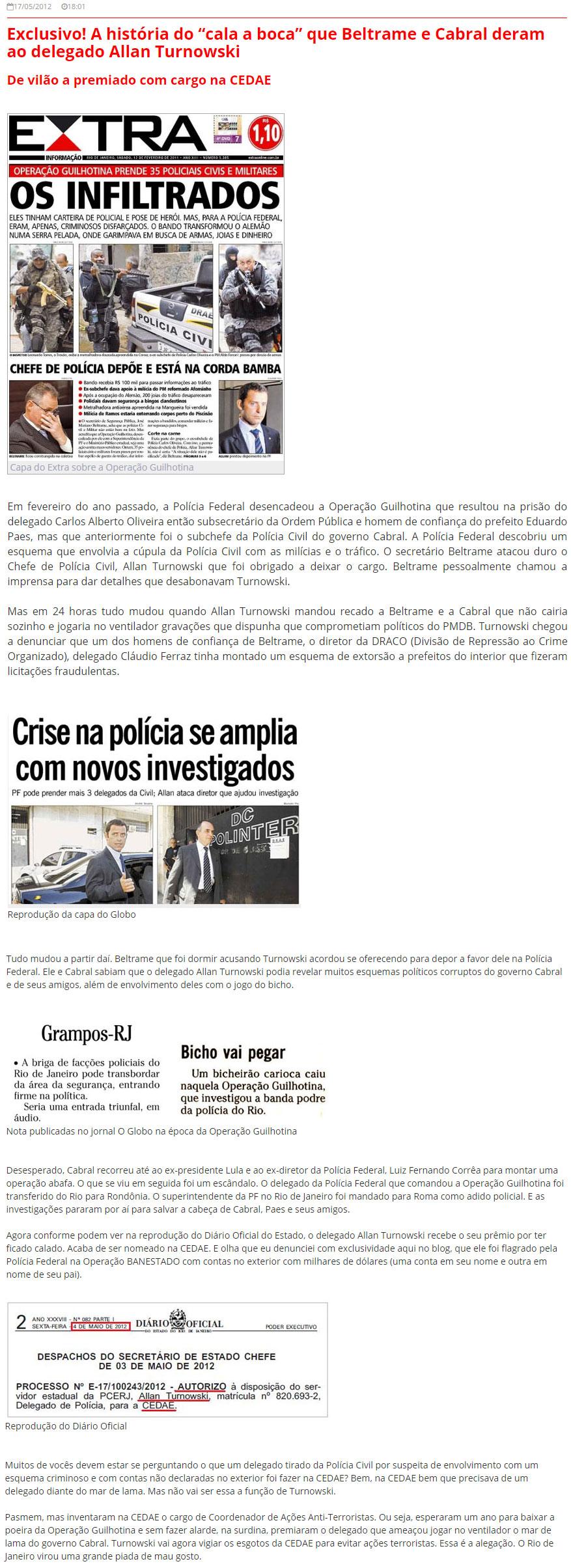 Reprodução do Blog do Garotinho (2012)