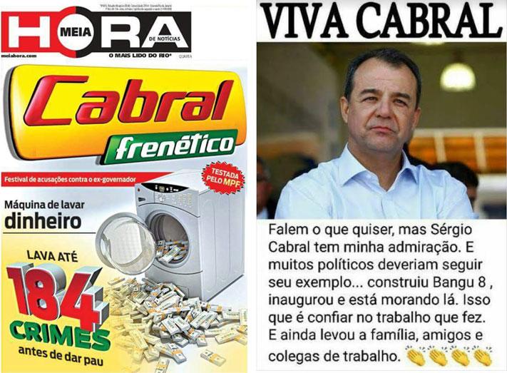 Reproduções do jornal Meia Hora e do Facebook