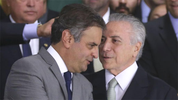 Aécio Neves e Michel Temer
