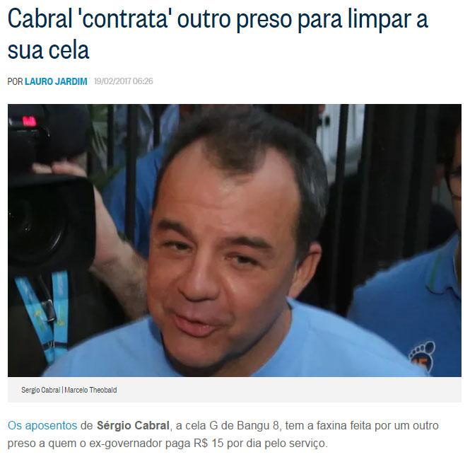 Reprodução do blog do Lauro Jardim, do Globo