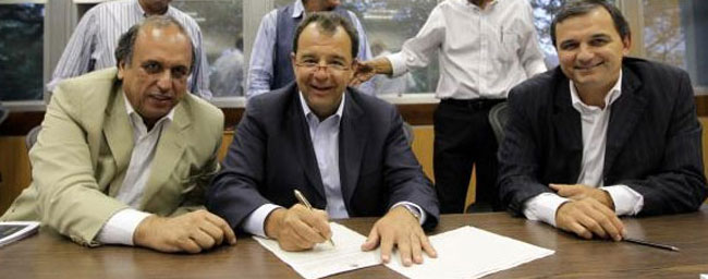 Pezão, Sérgio Cabral e Regis Fichtner