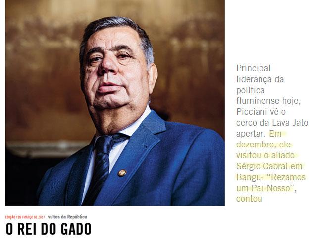 Reprodução do site da revista Piauí