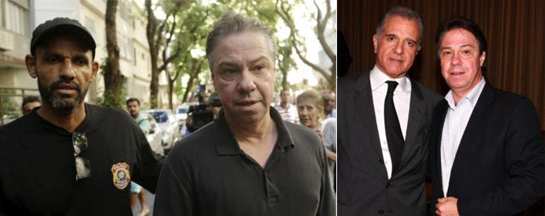 Luiz Carlos Velloso levado preso pela Polícia Federal; ao lado com seu amigo e ex-chefe, o deputado federal Julio Lopes (PP-RJ)