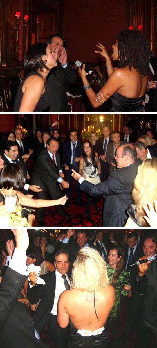 Cabral, Adriana Ancelmo, Wilson Carlos, George Sadala, entre outros, na farra do Hotel Ritz, em Paris