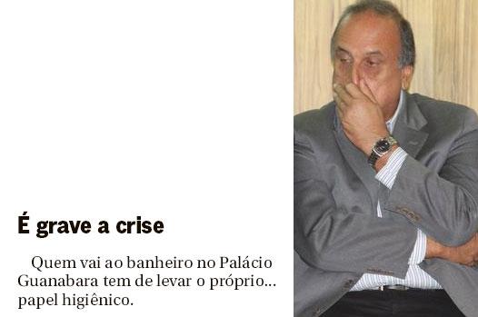 Nota da coluna de Ancelmo Gois, do Globo