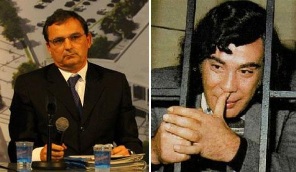 Regis Fichtner e Tommaso Buscetta (mafioso italiano preso no Brasil)