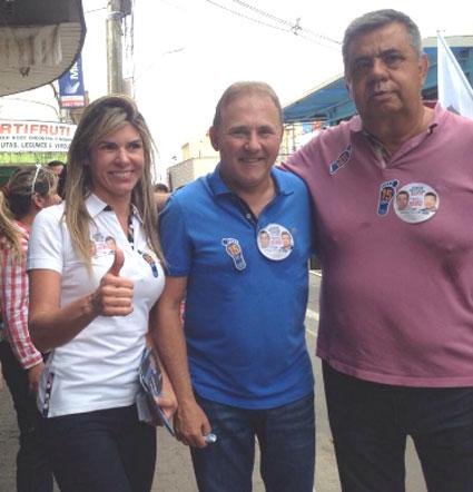 Jorge Picciani com o prefeito de Itaguaí, Charlinho e sua mulher, Andréia do Charlinho, ex-deputada cassada