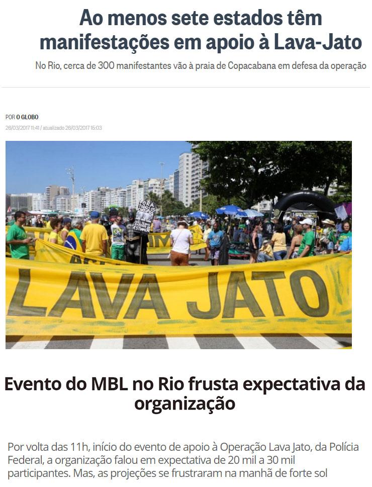 Reproduções do Globo e do Dia