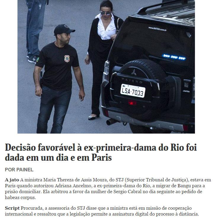 Nota do Painel da Folha de S.Paulo