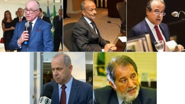 Conselheiros do Tribunal de Contas do Estado presos hoje (Aloysio Neves, Marco Antônio Alencar, José Gomes Graciosa, Domingos Brazão, José Maurício Nolasco)