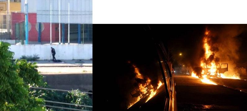 Policial executa suspeito em Acari e moradores colocam fogo em veículo na Avenida Brasil