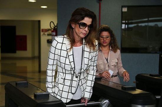 Cláudia Cruz em Curitiba em dia de visita a Eduardo Cunha