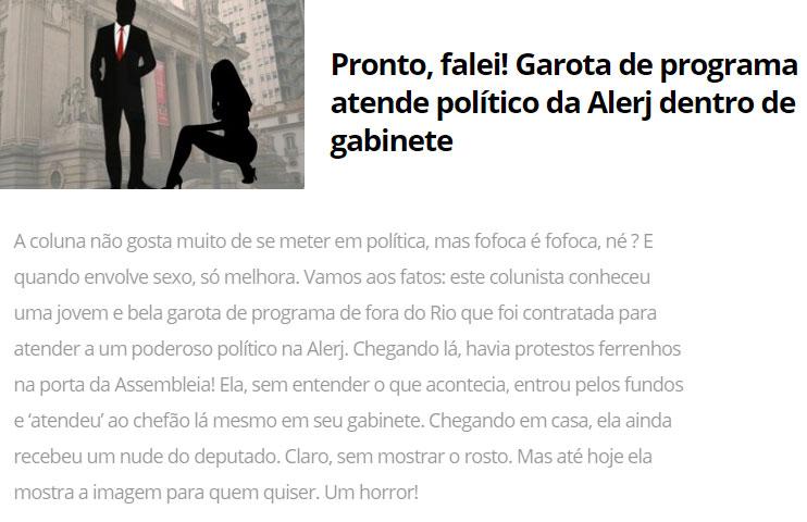 Reprodução da coluna de Léo Dias, de O Dia