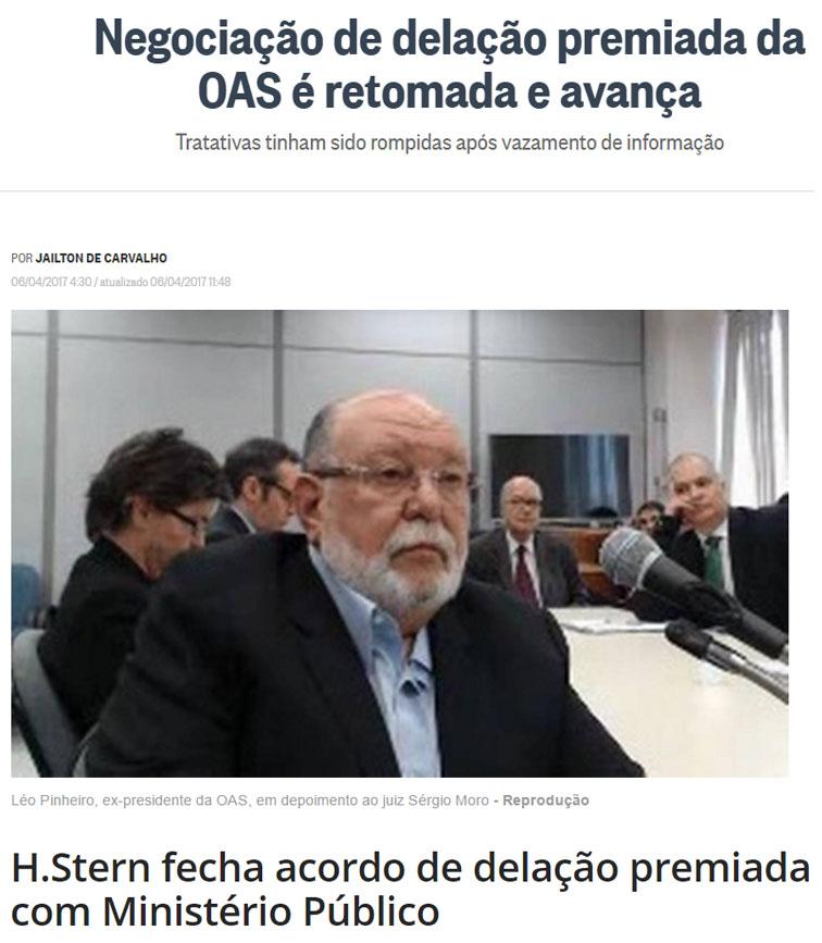 Reproduções do Globo e da IstoÉ