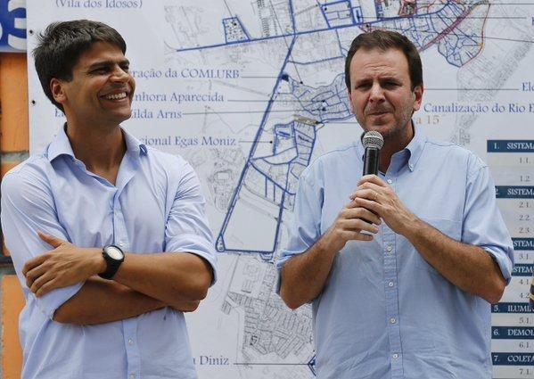Pedro Paulo e Eduardo Paes