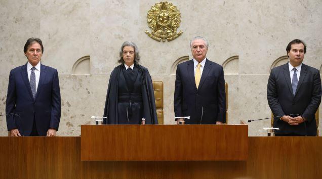 Eunício Oliveira, Cármen Lúcia, Michel Temer e Rodrigo Maia
