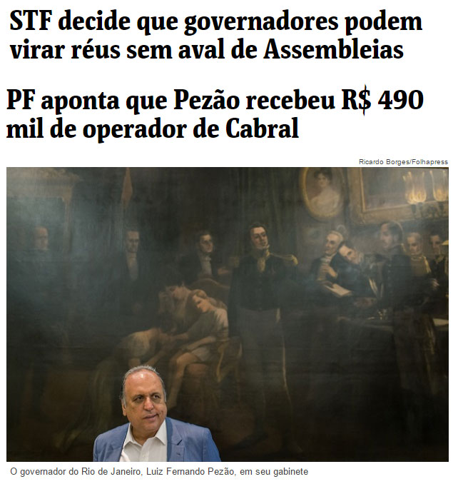 Reproduções da Folha de S.Paulo