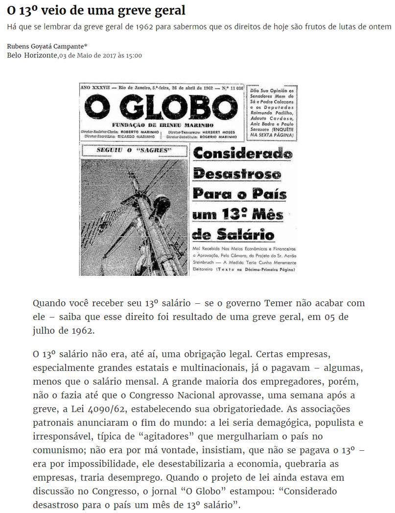 Reprodução do site Brasil de Fato