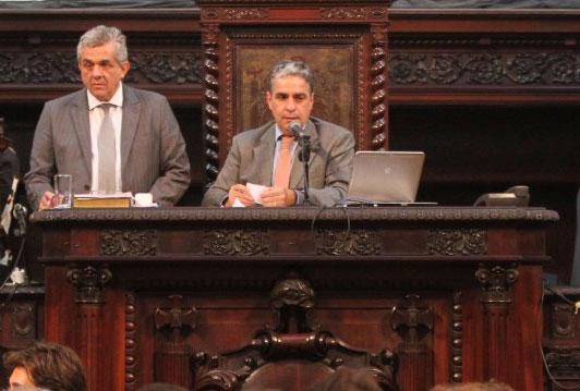 Presidente interino da ALERJ, André Ceciliano