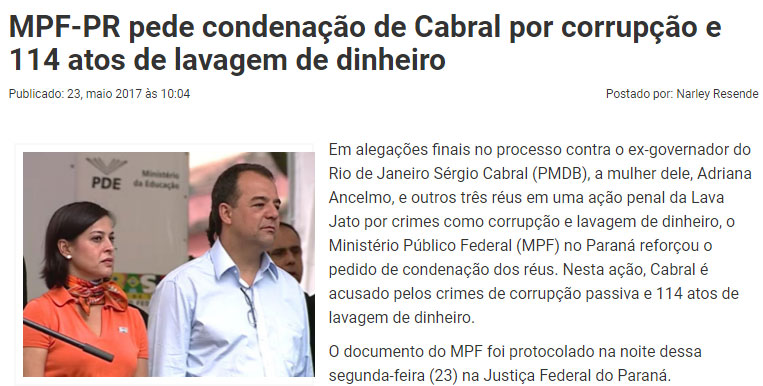 Reprodução do Paraná Portal