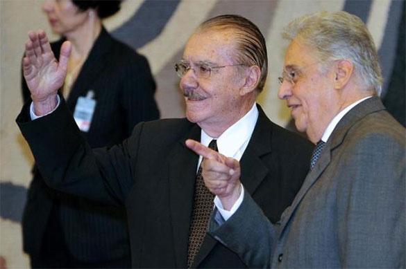 José Sarney e Fernando Henrique Cardoso