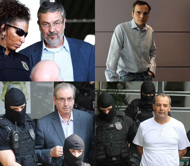 Antonio Palocci, Lúcio Funaro, Eduardo Cunha e Sérgio Cabral