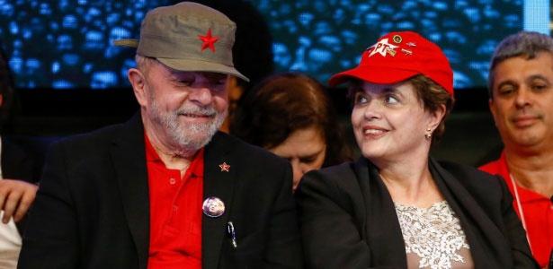 Dilma e Lula no Congresso Nacional do PT, no final do mês passado