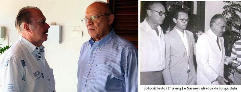 José Sarney e o senador João Alberto, amigos e aliados de muitos anos